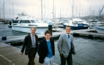 run ashore, Torquay, Spring 86: Wiggy, Tim, Keith