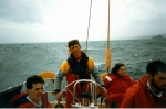 Pete Blakeway (and Wendy B) on yachtUnicorn, Spring 86