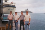 DTS - run ashore in Barbados.  Note complete uniformity in short sleeve shirts and polyester trousers.  Smart as a guard