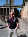 Midshipman Davis in Pompeii, Italy